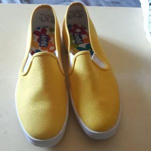 New Keds Slip Ons Yellow